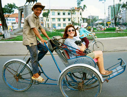 Cyclo in Viet Nam,  low-cost travel in 2014