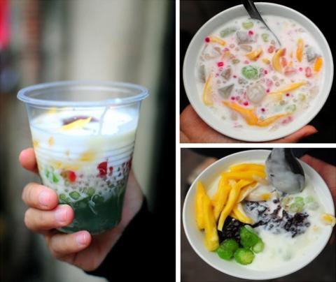 Yogurt with Jack-fruit in Vietnam