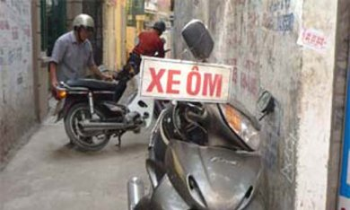Motor Taxi in Vietnam,Xe om,Xe om in Vietnam